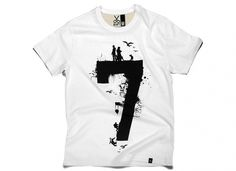 KAFT Design - RAKAMI7Â Tshirt #typography #tshirt #tee #clothing #number #five #numerical #tee design