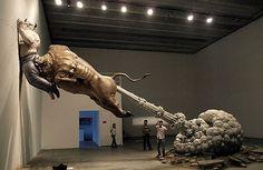 Круглый стол: Diskuter visionerne for Copenhagen Art Festival #sculpture #devil #jump #art #bull #anger