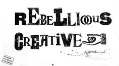 Rebellious Creative1_Ralph_Steadman #stencil #type