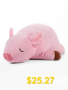 Pig #Shape #Stuffed #Plush #Toy #- #PIG #PINK