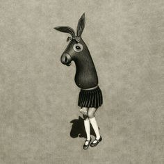Matt Duffin | A R T N A U #donkey #illustration #creature