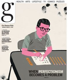 boston globe : Paul Blow #cover #illustration #blow #magazi #editorial #paul
