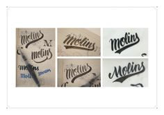 Personal branding: Adria Molins #calligraphy #lettering #script #branding #project #card #academic #retro #student #letter #photography #brush #logo #swoosh #paper #folder