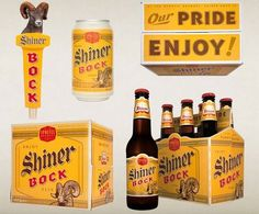 FFFFOUND! | mcgarrahjessee32.jpg 800×664 pixels #beer #bock #packaging #shiner #product #typography