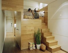 CJWHO ™ (East Village Studio by Jordan Parnass Digital...) #room #storage #design #interiors #wood #photography #architecture #bed #stairs #clever #luxury