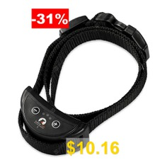 PaiPaitek # #PD #258 #Anti-bark #Dog #Collar #( #Upgraded #) #- #BLACK