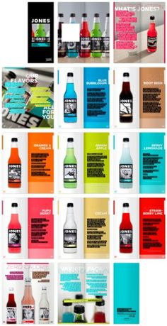 Jones Soda Catalog on the Behance Network #type #catalog #jones #soda #pages #beverage #justin marimon
