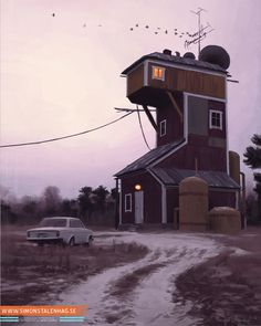 Simon Stålenhag Art Gallery #sweden #retro #futuristic #sci #fi #simon #digital #illustration #art #stalenhag