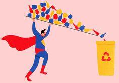 David Biskup Illustration #recycle #illustration #biskup #david #superman