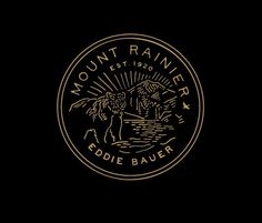 Eddie_bauer_ _mount_rainier #logo #badge