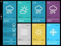 VIZUALIZE #color #weather #ui