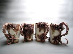 CJWHO ™ (Marine Themed Ceramic Objects – Bottom Feeders) #crafts #ceramic #cup #art