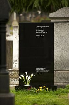 Creative Review - Saville and Kelly's memorial to Tony Wilson #headstone #grave #clean #cemetery #beautiful