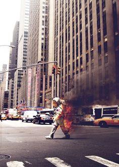 Bodega #astronaut #photography #fire