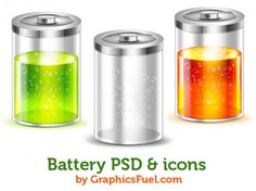 Battery psd & icons Free Psd. See more inspiration related to Icons, Psd, Battery and Horizontal on Freepik.