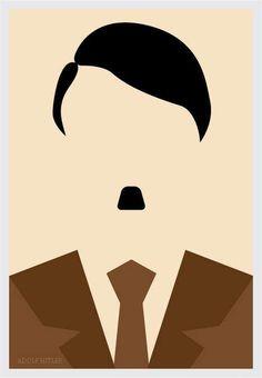 Adolf Hitler #minimalistic #movies #design #graphic #posters #minimal #poster #minimalist