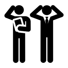 See more icon inspiration related to problem, worker, businessmen, people, stick man, manager, humanpictos and business on Flaticon.