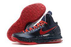 KD V ID Nike Shoes Black Red Men's-#66310-360