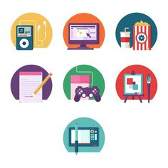 Design Icons #flat #vector #print #design #color #screen #illustration