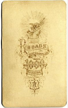 Typography / Rhoads Photo Back, Type #type #vintage