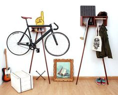 With the Sy1t Bike Rack at home, get organised in a simple and stylish way. #modern #design #product #industrial #bike #rack
