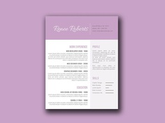 Free Feminine Resume Template with Elegant Design