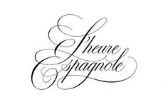 L'heure Expangole Logotype #drawn #script #hand
