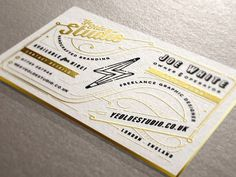 Ye Olde Studio Cards #design #graphic #typography