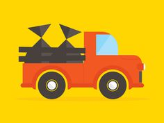 Truck #truck #wheels #vector #red #redneck #illustration