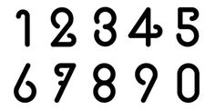 Ziuxoa font on Behance #numbers #font #1234567890