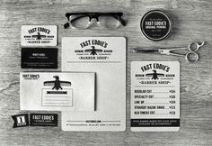 design work life » Richard Arthur Stewart: Fast Eddie's Barber Shop #graphic design #branding