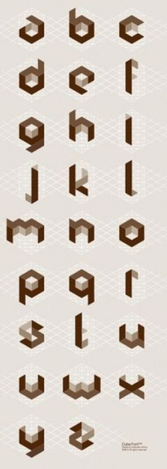 petersunna.com/found – randoms and inspiration #font #geometry #cube #typography