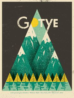 Eric Nyffeler / Gotye Concert Poster  #poster #type #gotye #illustration