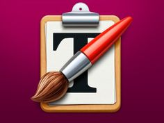 Paste Styler MacOS App Icon #text #icon #wood #app #brush #paper #mac
