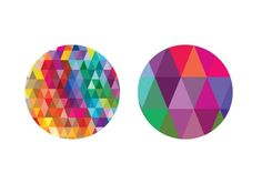 Tumblr #design #coasters #geometric #colors #triangle