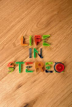 Life in stereo #handcrafted #lettering #design #graphic #quality #technical #typography