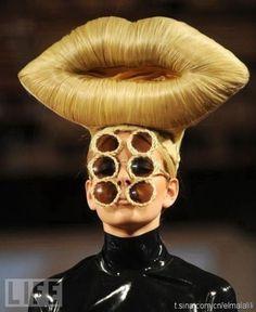 fashionGRAPHIC #shade #avant #sunglasses #hair #fashion #garde #mouth