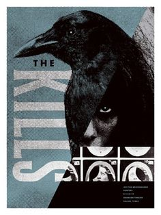 The Kills concert poster by Aesthetic Apparatus - New Arrivals - Gallery #poster