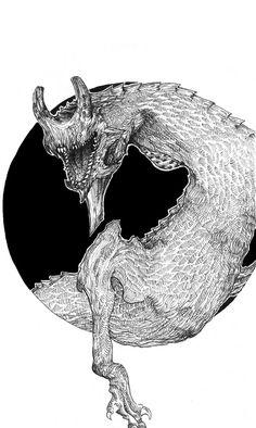 Kaiju 1 Artline - pentel Facebook and Tumblr: Bana's Kingdom #alien #dragon #line #white #movie #black #artline #insect #and #monster #game #kaiju #sci-fi