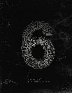 Six on the Behance Network #particle #black #poster #construction