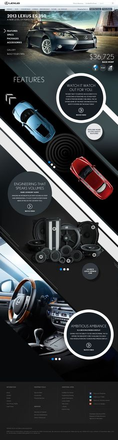 Lexus HTML5 Parallax by bil Chamberlin #interactive #ux #design #ui #digital