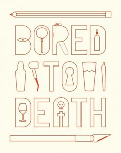 Bored to Death - Trevor Basset #basset #illustration #trevor #typography