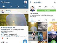 Instagram in Material Design