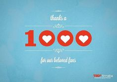 TEDxAnnaba #1000 #thanks #annaba #vintage #fan