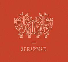 Sleipnir #illustration #design #graphic #typography