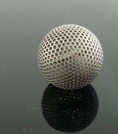 Titanium-3D-printing-by-imaterialise-Titanium-letter-ball.jpg (JPEG Image, 500x569 pixels) #texture #metal #3d printing