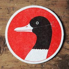 Google Reader (1000+) #illustration #letterpress #duck