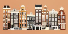 Amsterdam big #danny #illustration #jongerius #amsterdam #buildings