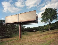 Billboards in a Field Remnants from a Suspended Bypass — Peter Croteau #photography #photo