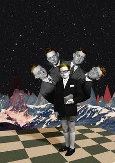 Confused #modern #surrealism #vintage #art #collage